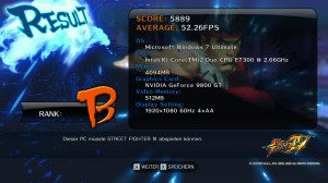StreetFighter IV - Windows 7 Results