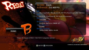 StreetFighter IV - Windows XP Results