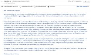 Abschließende Mail der UK NRW