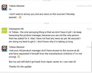 7th response from Hannspree UK regarding sn97t41w sources