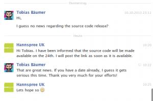 9th response from Hannspree UK regarding sn97t41w sources