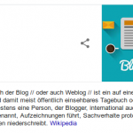 """Die Definition des Begriffs """"Blog"""" - Untermalend zum Begriff """"Lebenszeichen"""""""
